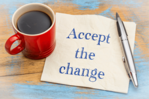 Accept the change